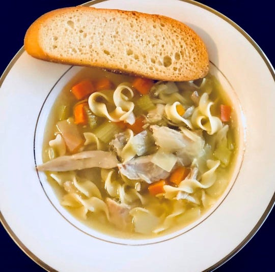 Chicken noodle soup from J & J Kitchen in New City.