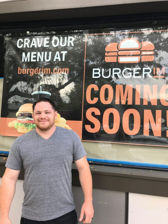 Nick Vurchio, owner of the Mamaroneck Burgerim franchise. The fast casual eatery is set to open in early December.