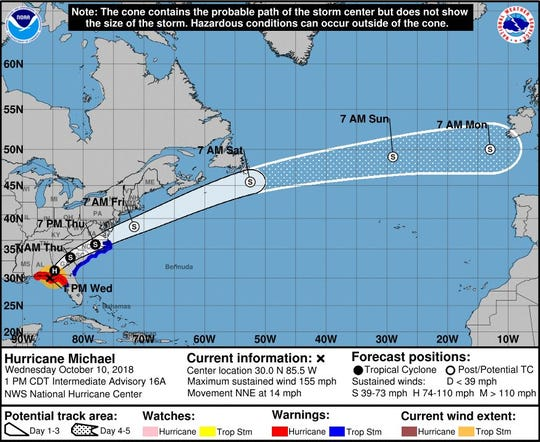 Hurricane Michael made landfall on the Florida Panhandle only 2 mph short of Category 5 status on Wednesday afternoon.