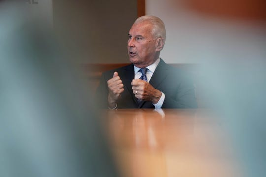 Mayor Mike Purzycki speaks to the News Journal editorial board about  future plans to handle vacant properties in the City of Wilmington.