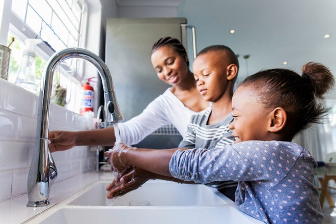 Remind your children to wash their hands more frequently during flu season.