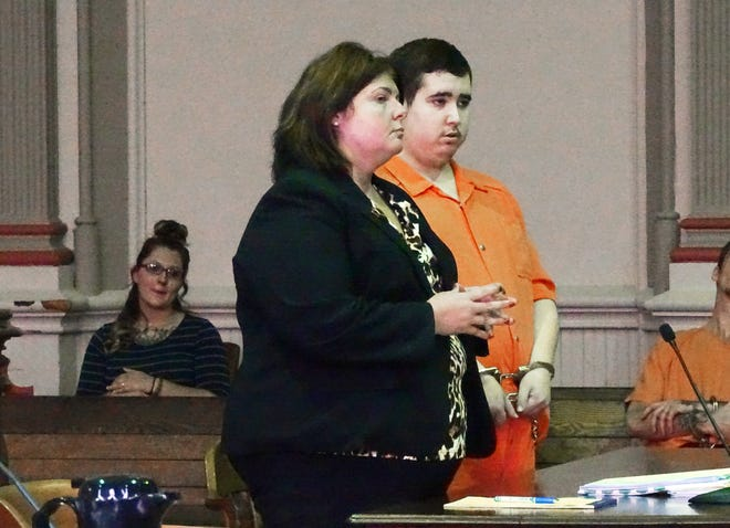 Joshua Wood, represented by Attorney Kendra Kinney, was sentenced to six years in prison for downloading sexually explicit photos of minors onto his computer.