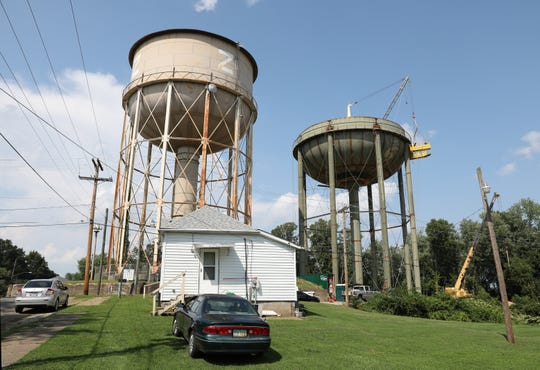A new water tower on Putnam hill is one of several projects being undertaken or planned by the City of Zanesville water department.