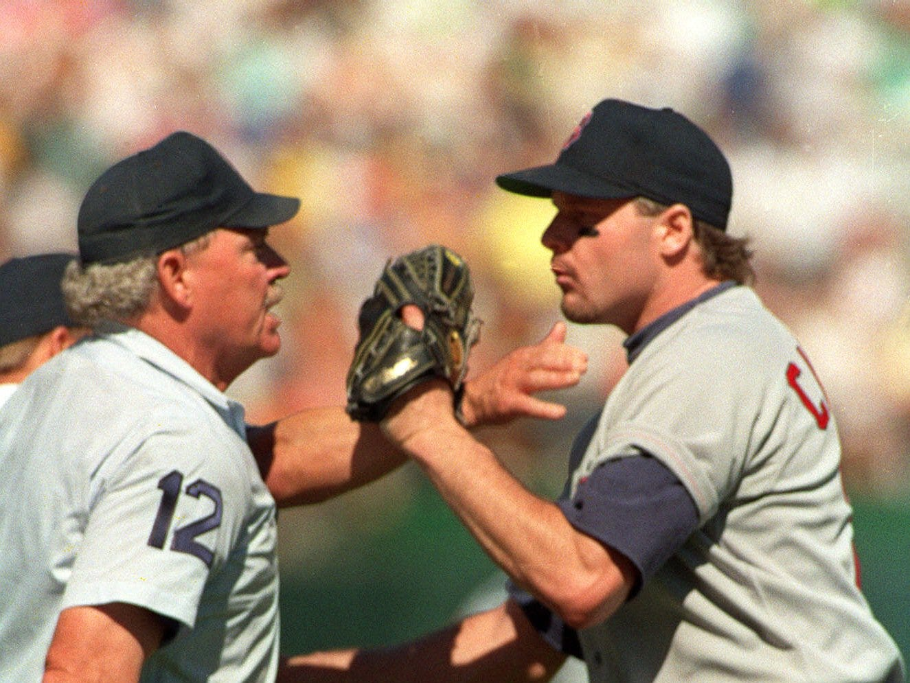 1990 ALCS Game 4: Red Sox starter Roger Clemens was ejected in the second inning against the Athletics, by umpire Terry Cooney.