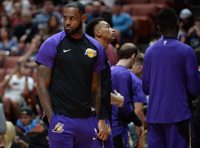 Los Angeles Lakers forward LeBron James.