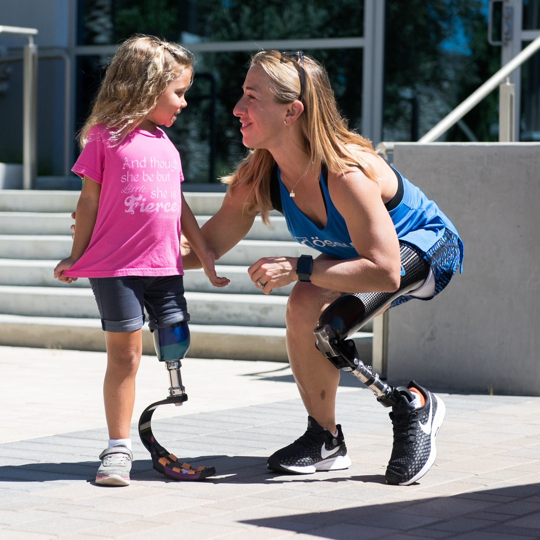 Sarah Reinertsen explains how she does the Ironman with a prosthetic leg
