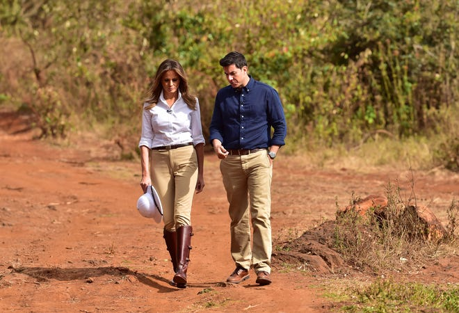 """ABC News' Tom Llamas accompanied Melania Trump on her tour of Africa for the """"20/20"""" special """"Being Melania: The First Lady."""""""