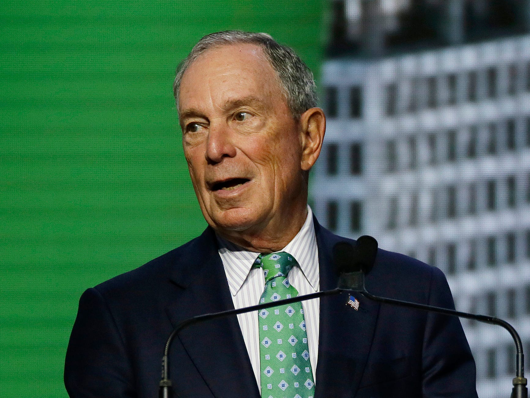 Michael Bloomberg, the UN Secretary-General's Special Envoy for Climate Action, speaks during the plenary session of the Global Action Climate Summit on Sept. 13, 2018, in San Francisco.