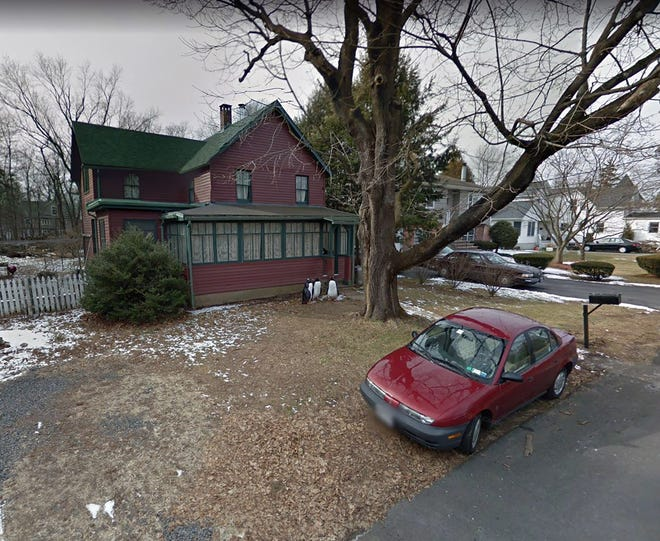 Several federal, state and local police agencies searched the home, shown here in February 2013, of Paul Rosenfeld, 56, of Tappan, New York, after he told federal officials that he had bought explosive black powder over the Internet and made a bomb.