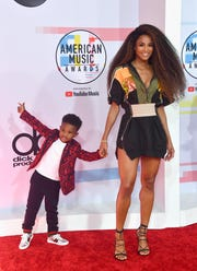 Future Zahir Wilburn, left, and Ciara