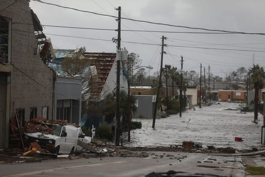 Hurricane Michael Plows Through Florida Area Of Older Mobile Homes