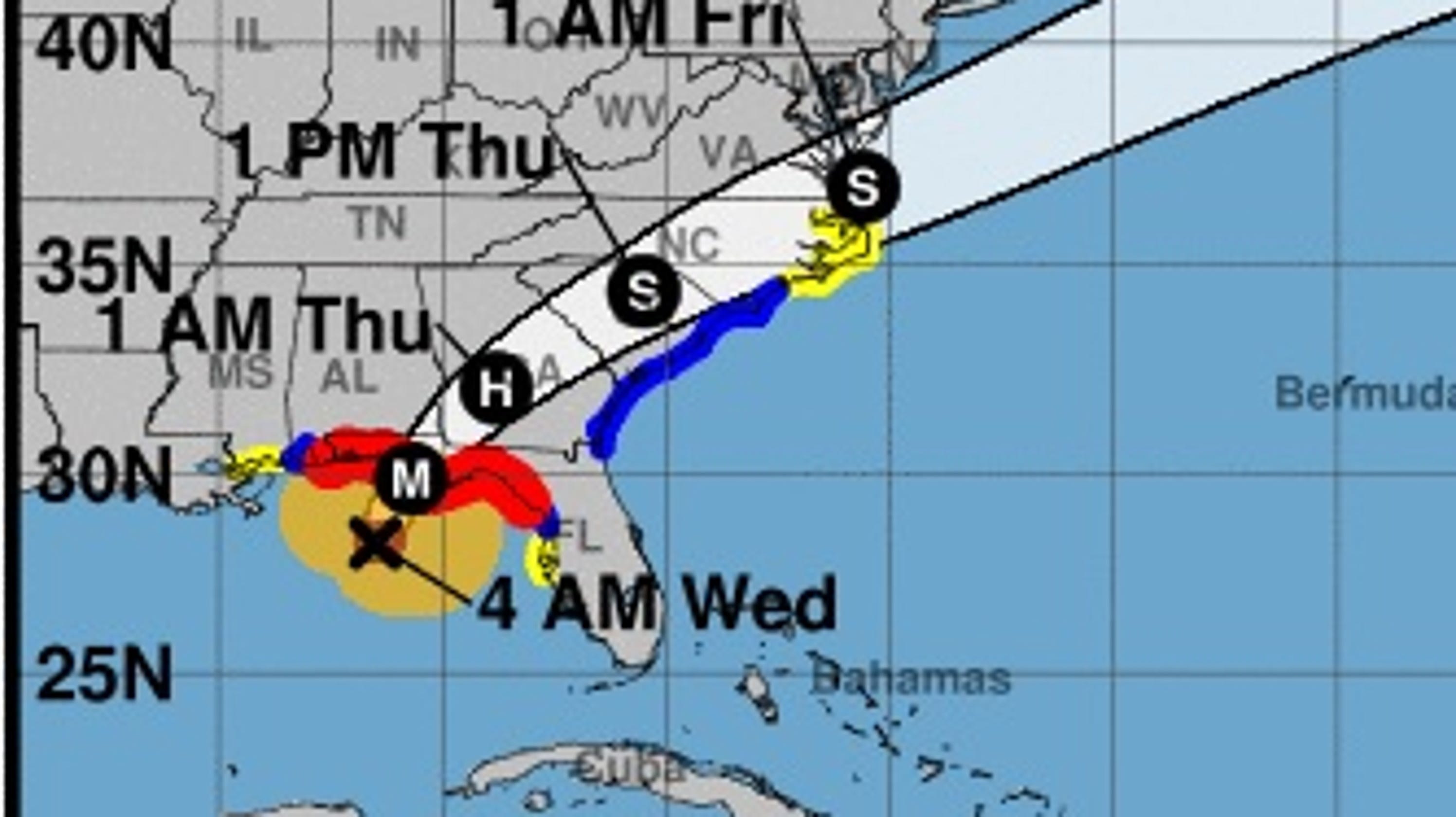 Hurricane Michael: Canceled flights reported across Florida ...