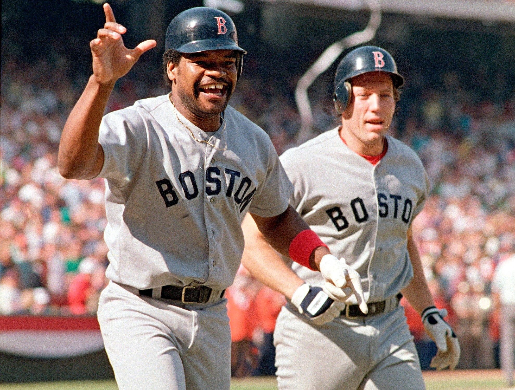 1986 NLCS Game 5: The Angels were one strike away from reaching the World Series, but Boston's Dave Henderson homered in the ninth inning to put the Red Sox ahead. They would win in 11 innings and come back to win the series.