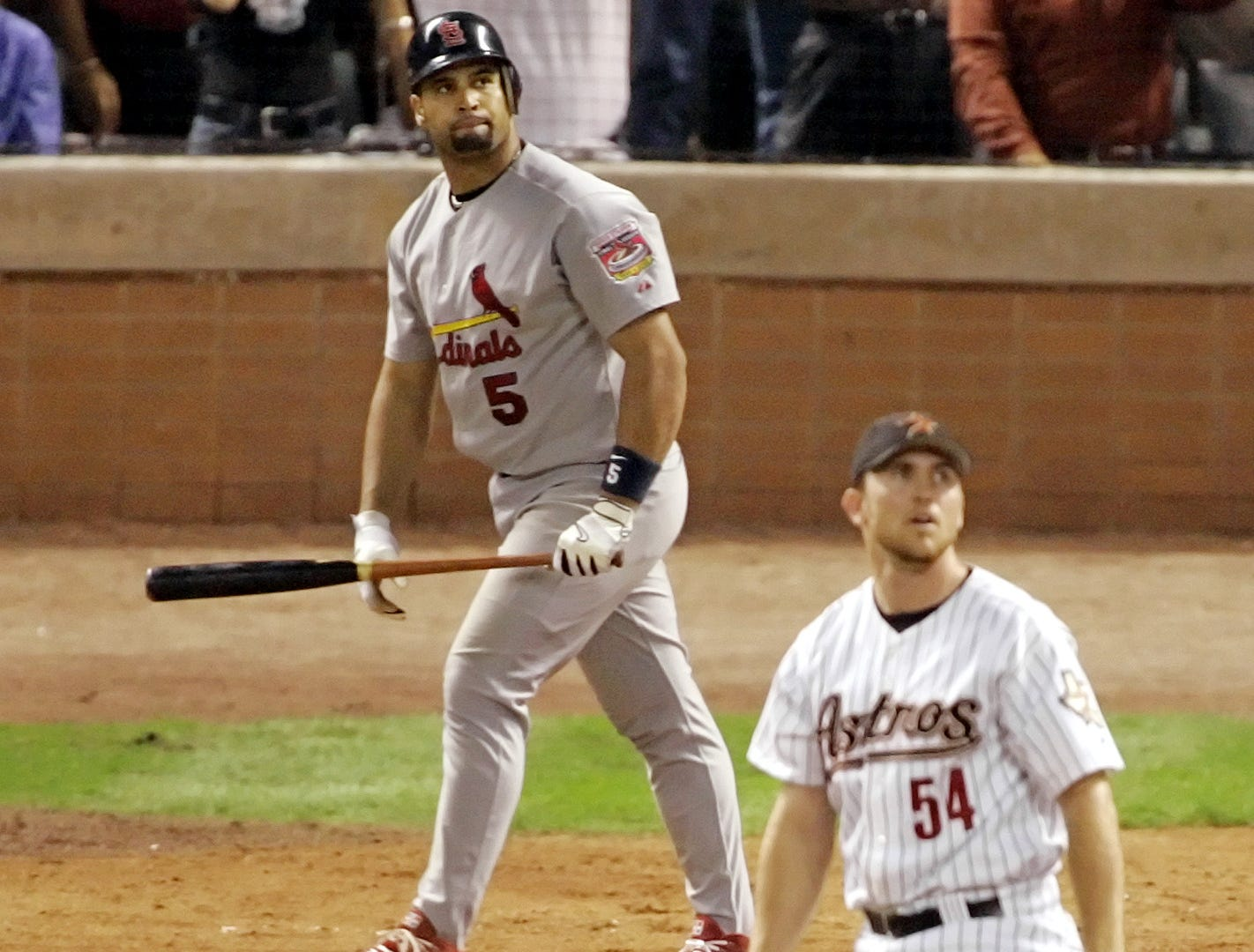 2005 NLCS Game 5: With the Astros on the verge of reaching the World Series, the Cardinals' Albert Pujols crushed a mammoth three-run homer off closer Brad Lidge to put St. Louis ahead in the ninth inning.