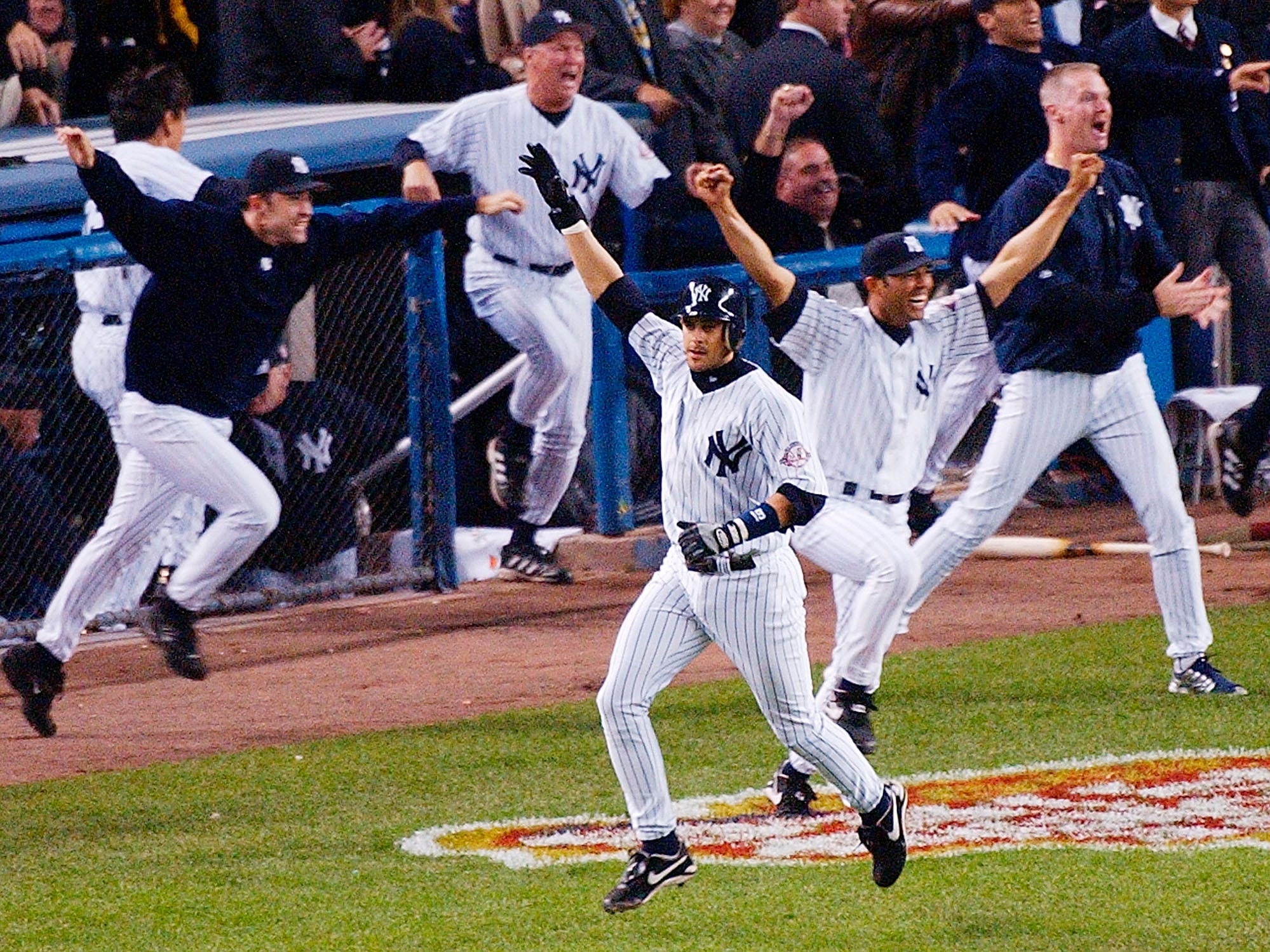2003 ALCS Game 7: Aaron Boone hit a walk-off solo homer in the 11th inning against the Red Sox, putting the Yankees in the World Series for the sixth time in eight years.