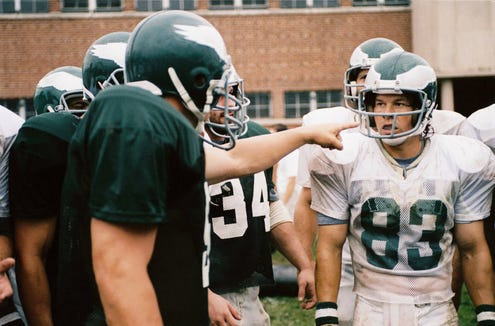 "Mark Wahlberg stars as a Philadelphia bartender who gets a shot at football glory with the Eagles in ""Invincible."""