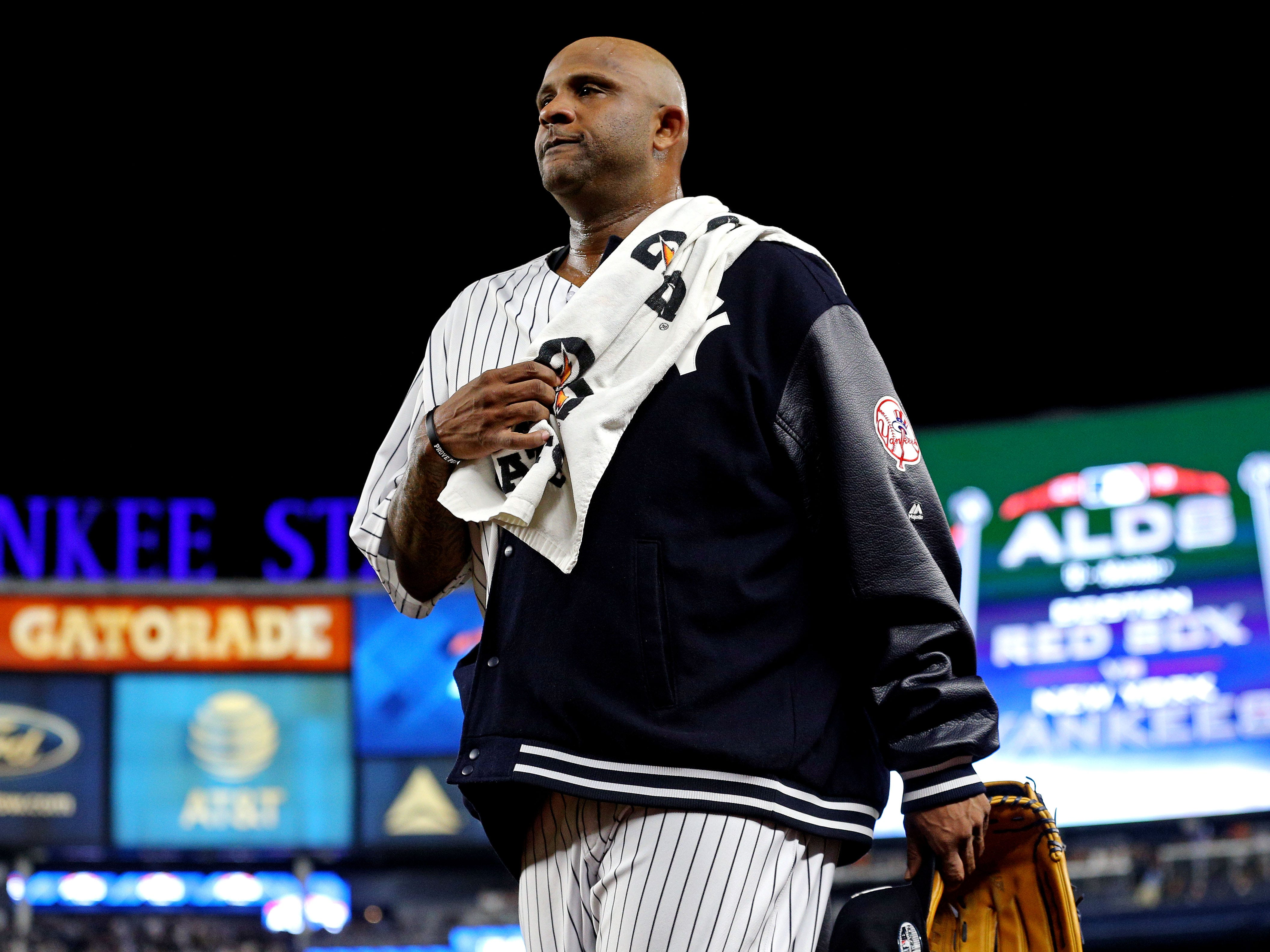 ALDS Game 4: Yankees starting pitcher CC Sabathia ready to take the mound.