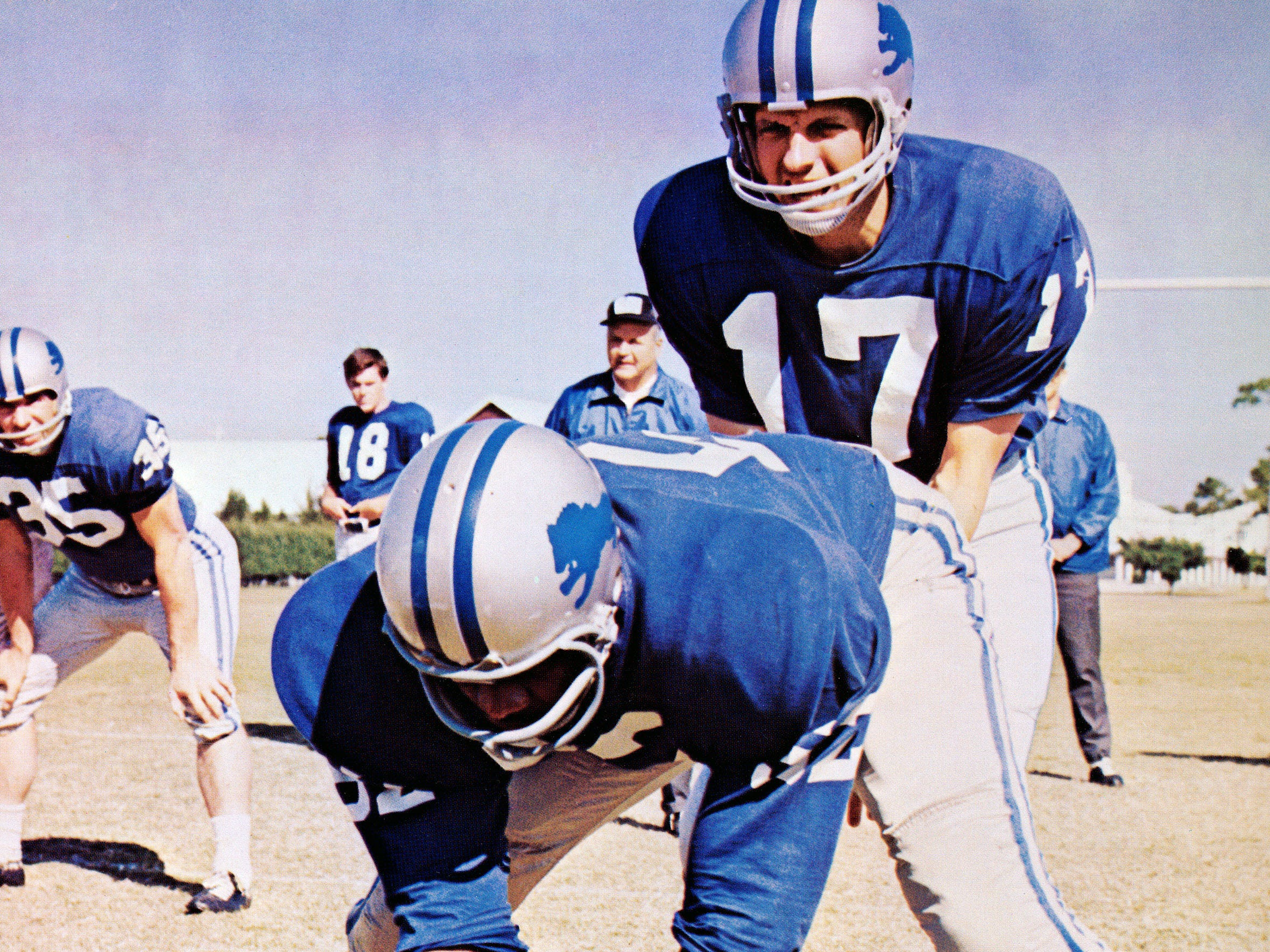 "George Plimpton (Alan Alda, right) is a Sports Illustrated writer who gets a tryout with the Detroit Lions in ""Paper Lion."""