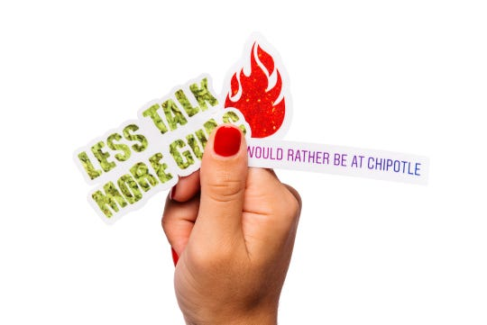 Chipotle unveils limited edition scratch-and-sniff stickers.