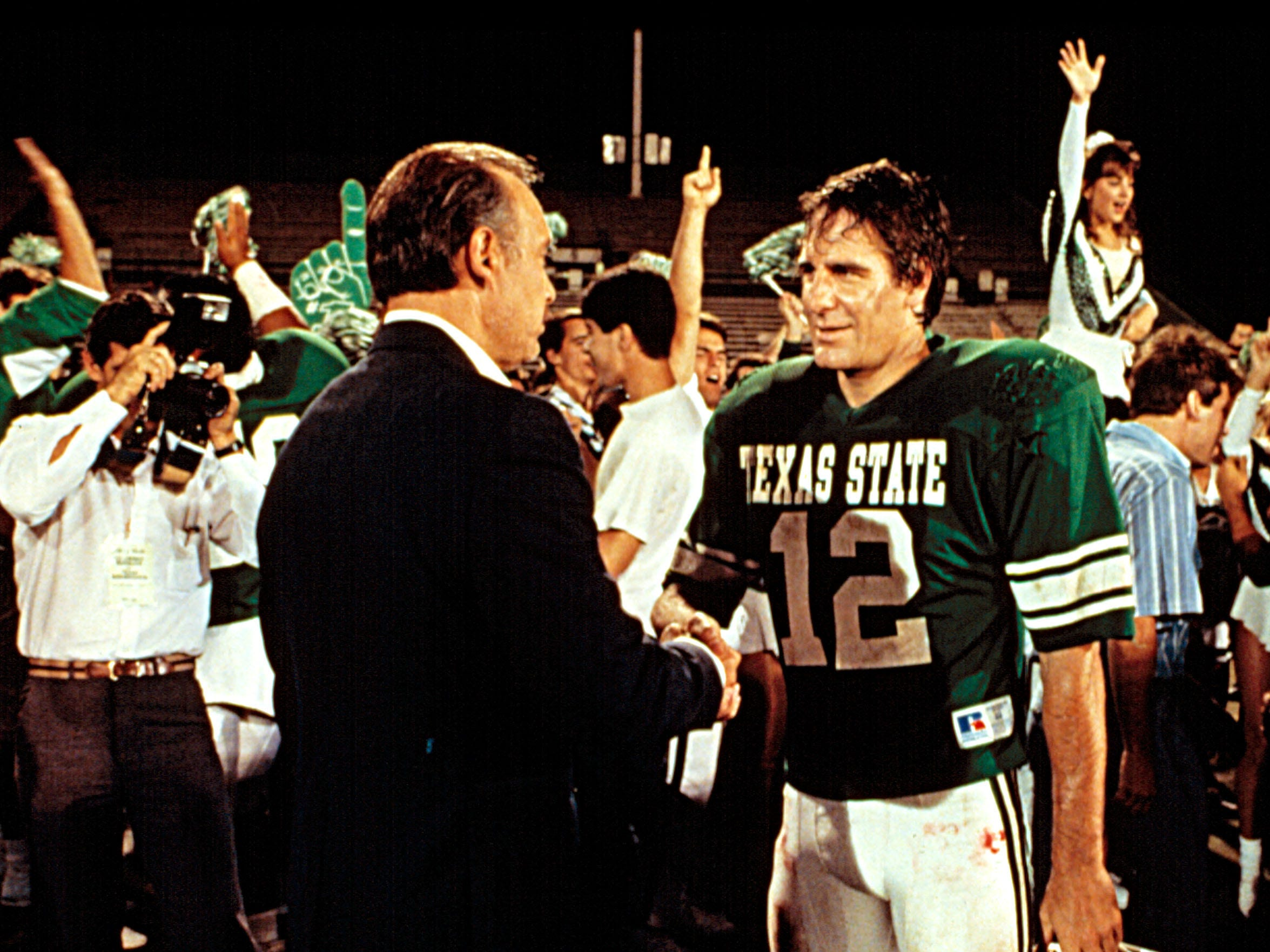 "An aging quarterback (Scott Bakula) makes the most of his chance at college football in ""Necessary Roughness."""