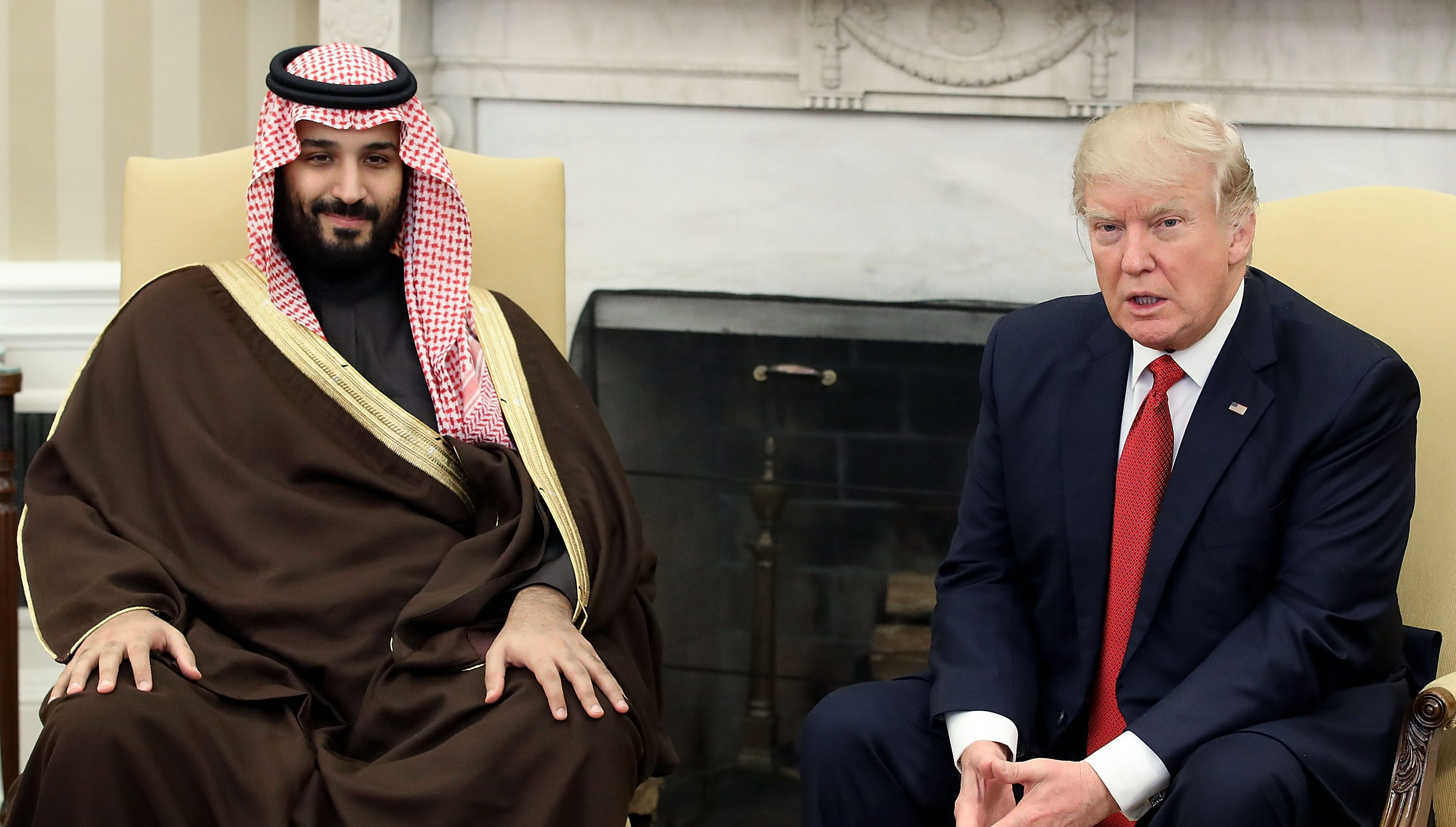 Saudi Crown Prince Mohammed bin Salman and President Donald Trump in Washington on March 14, 2017.