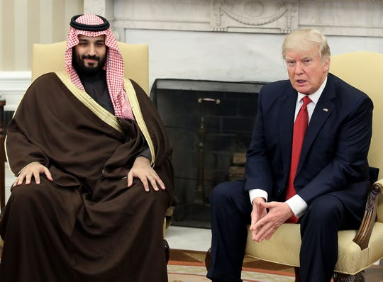 Saudi Crown Prince Mohammed bin Salman and President Donald Trump in Washington on March 14, 2017.