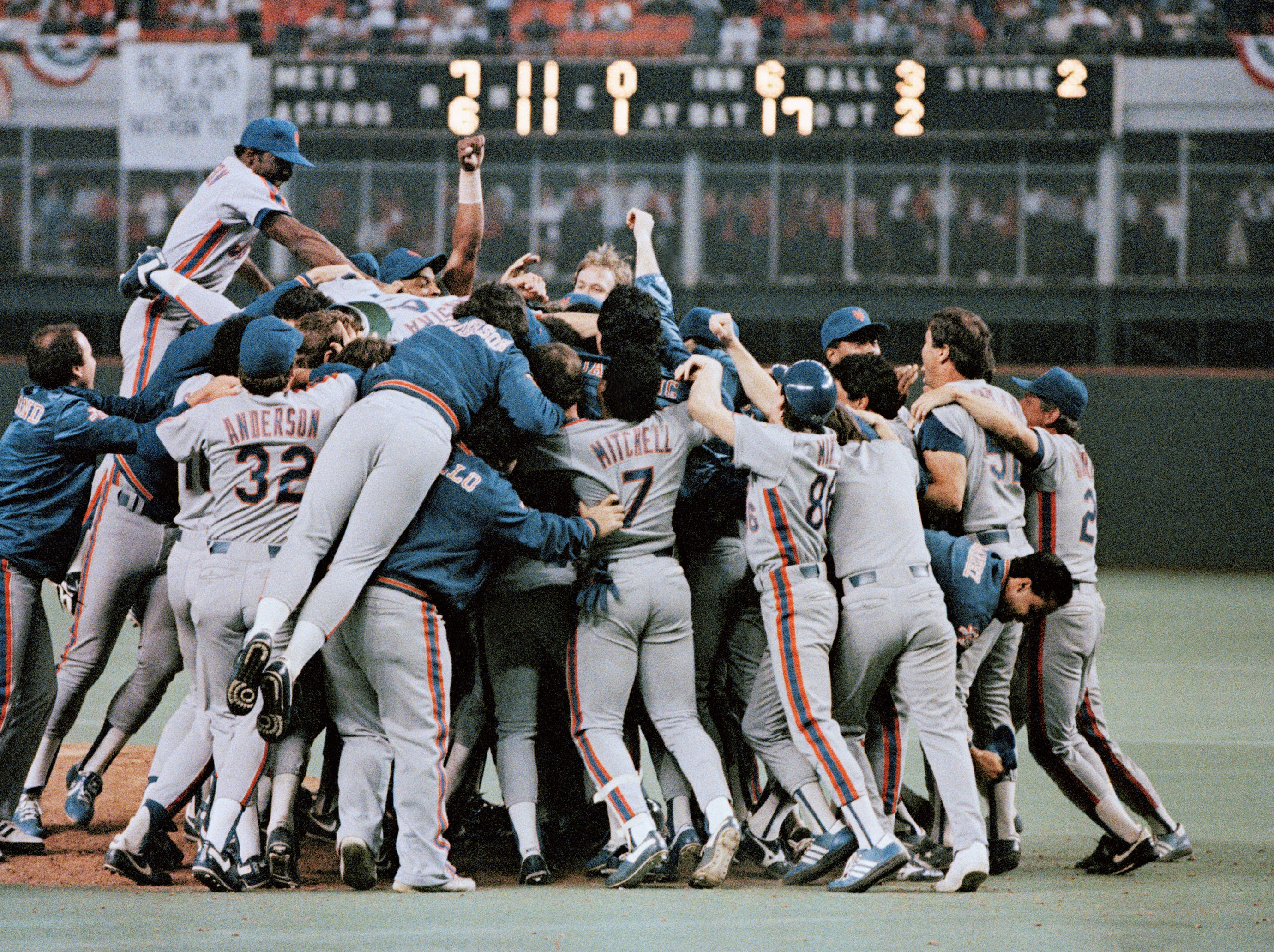 1986 NLCS Game 6: In what some consider the greatest game in baseball history, the Mets outlasted the Astros in 16 innings to book their ticket to the World Series.