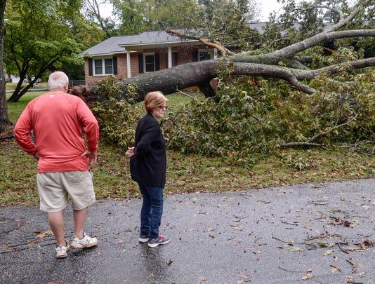 Hurricane Michael Storm Anderson Thursday