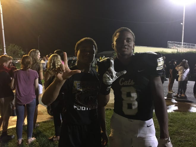 While an injury sidelined fellow running back Jalen Shepherd in Week 4, brothers Caleb (left) and D'ante Gallashaw have stepped up to carry the load.