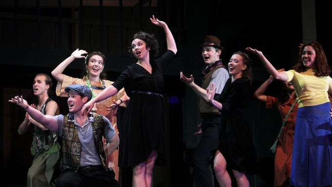 """Abilene Christian University's new dance program takes centerstage in many numbers in the 2018 homecoming musical """"Wonderful Town."""""""
