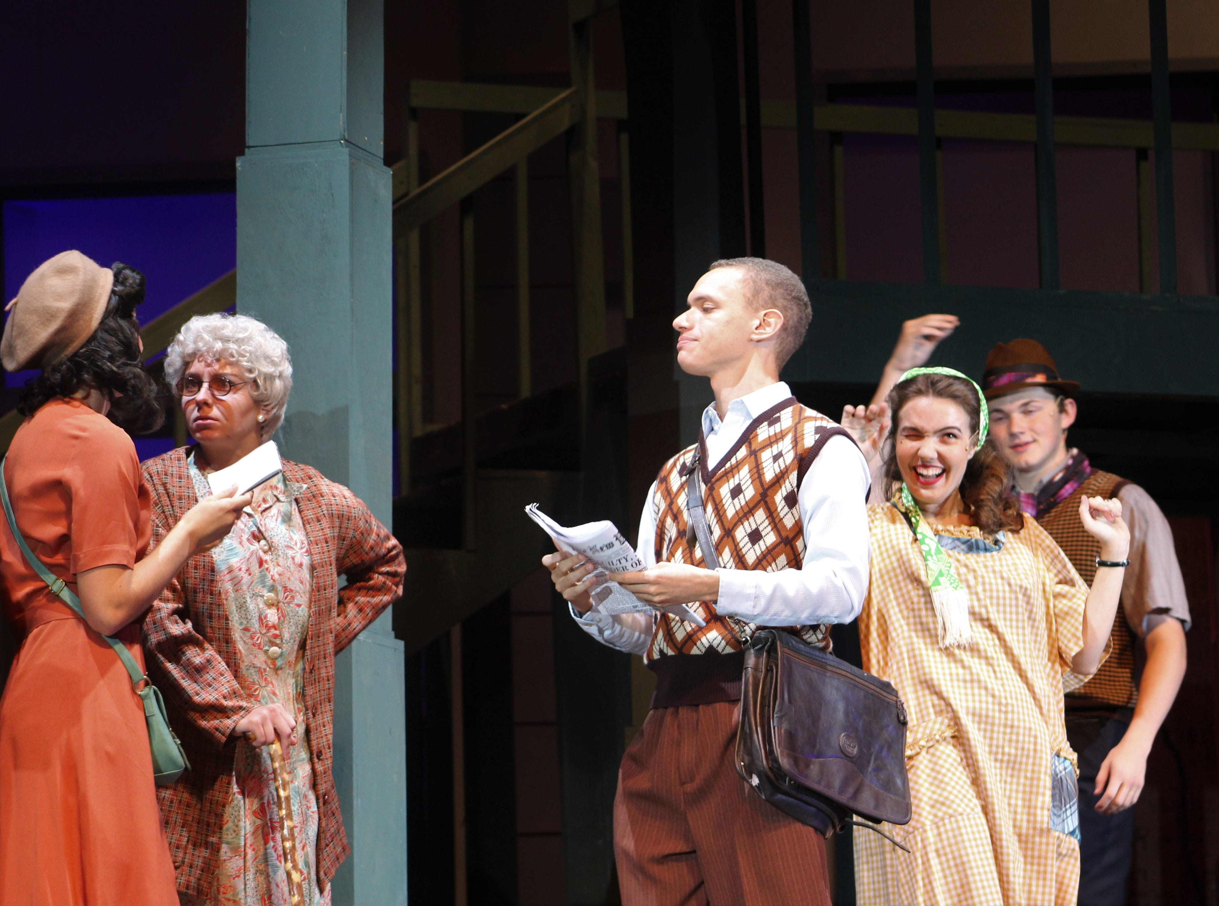 """Just another day in the life of Greenwich Villagers. Two sisters from Ohio have moved here hoping to make their way in New York City in Abilene Christian University's 2018 homecoming musical """"Wonderful Town."""""""