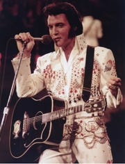 Elvis Presley played the custom Gibson Ebony Dove, a gift from his father, at concerts all over the world before he gave it to Mike Harris in Asheville in 1975.