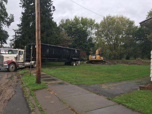 Demolition at 1 Duke Street in Binghamton