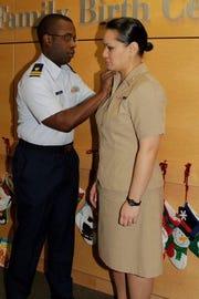 "Rebekah ""Moani"" Daniel was promoted to lieutenant in 2014."