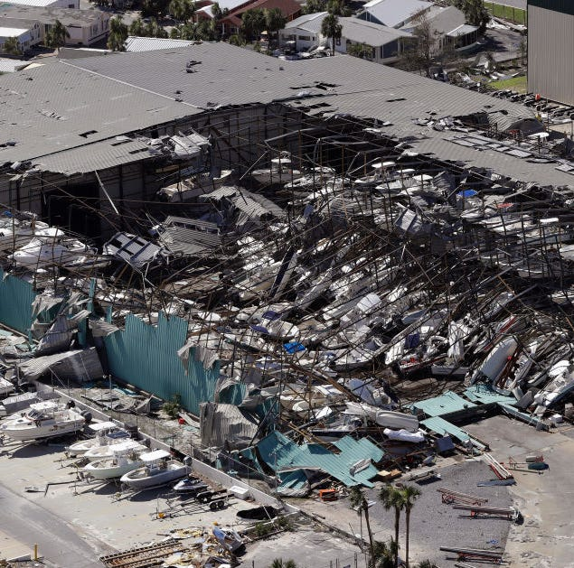 Hurricane Michael damage in Florida: Drone video, photos show destruction of category 4 storm