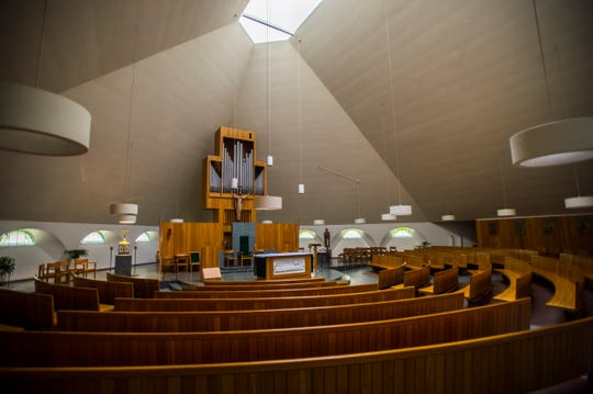 The Cathedral of the Immaculate Conception on Pine Street in Burlington on  is up for sale according to Bishop Christopher Coyne of the Diocese of Burlington, seen on Thursday, Oct. 11, 2018.