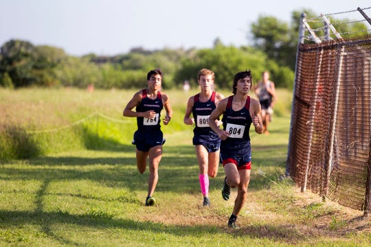 Varsity boys compete in the District 30-5A Cross Country meet at the Dugan Track & Soccer Stadium at Texas A&M University-Corpus Christi on Thursday, October 11, 2018.
