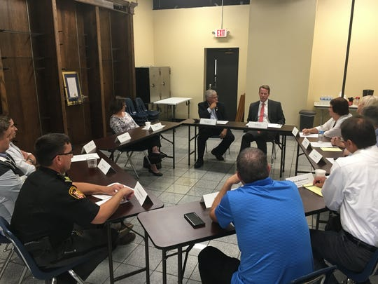 Nearly a dozen Ross County community members met with Secretary of State Jon Husted for a community round table discussion about Issue 1 on Thursday afternoon.