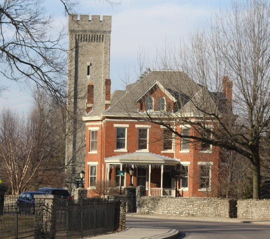 The 86.6-acre Tower Park, on remnants of a former U.S. Army post named Fort Thomas, is encircled by hiking trails. The wooded trails offer exercise on property that overlooks the Ohio River.