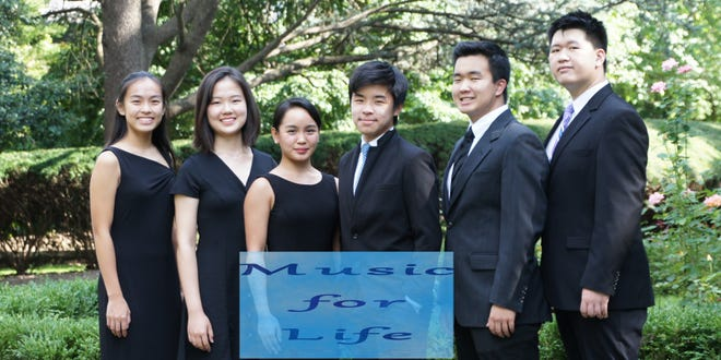 From left to right: Sophia Hu, Grace Zong, Elisa Tagle, Ethan Zhang, Eric Guo and James Hwang.