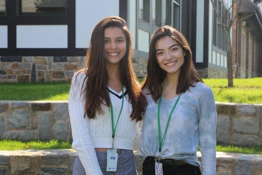 National Hispanic recognition program scholars, seniors Isabella Racioppi and Michaela Markels.