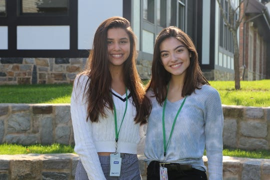 National Hispanic recognition program scholars, seniors Isabella Racioppi and Michaela Markels.