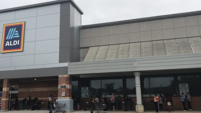 A look at the Oct. 11 opening of ALDI on Route 9 in Old Bridge.