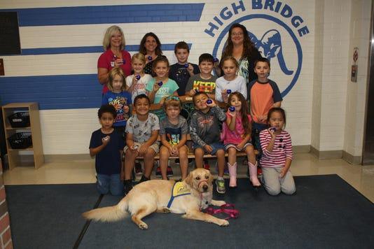 Hunterdon Healthcare donates 200 pedometers to support High Bridge Elementary School's daily mile challenge