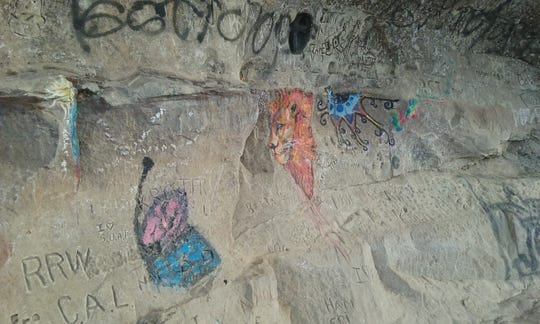 The amount of graffiti has grown on the cliffs at Ledges State Park in recent years.