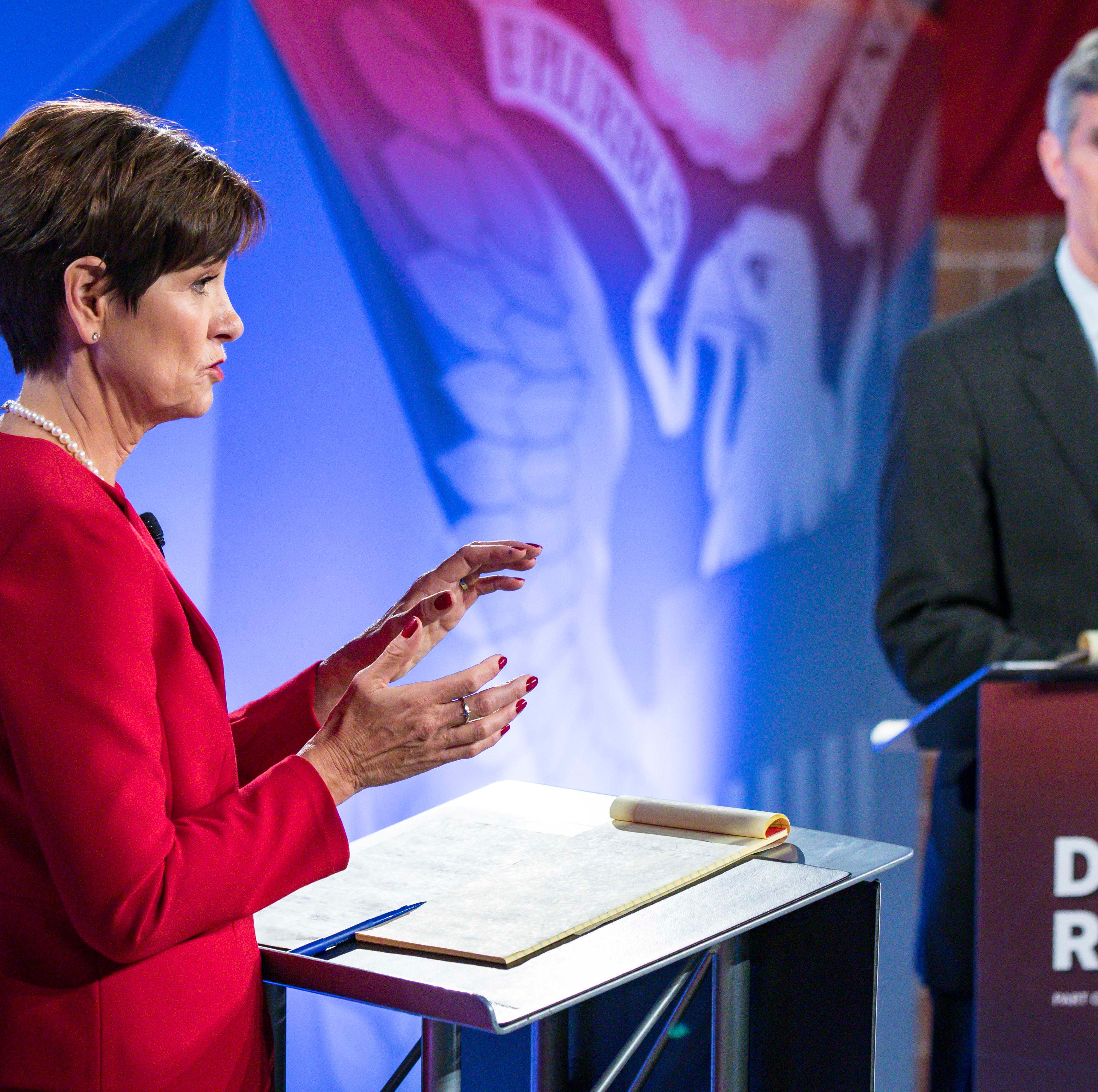Iowa's two leading candidates for governor sparred over 3 key issues in second debate