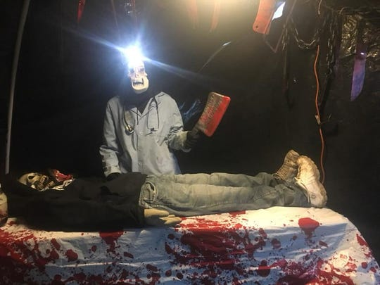 Retired Army Sgt. Patrick Perkins started a haunted house in his backyard in Grimes. Now in its third year, Perkins is asking haunted house visitors to donate a non-perishable food item for veterans in need.