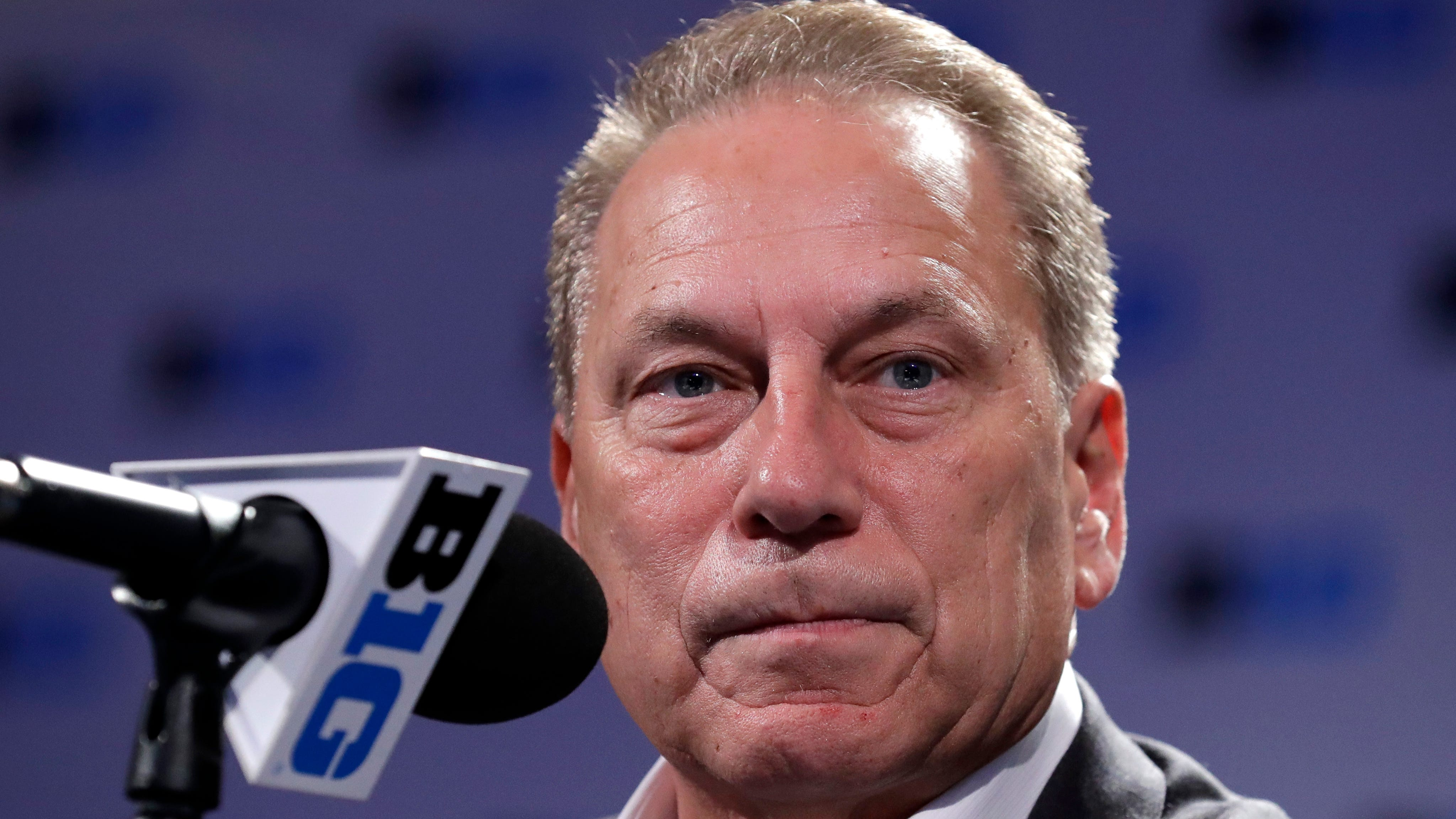 """Michigan State basetball coach Tom Izzo says """"if there was a time a player was found guilty of something, I promise you he will not be on this team."""""""