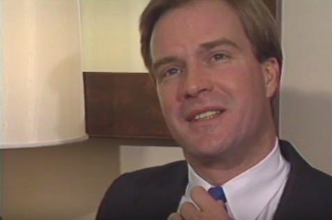 Screen shot from Schuette's 1989 interview outtake