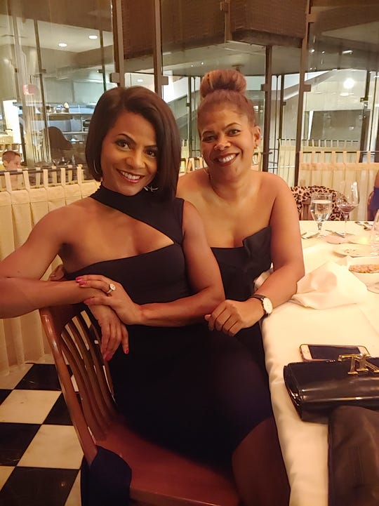 Rhonda Walker, left, and Portia Roberson celebrate new chapters in their lives.